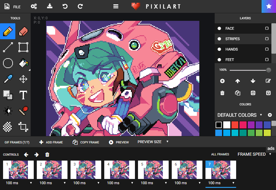 pixilart free online art community and pixel art tool