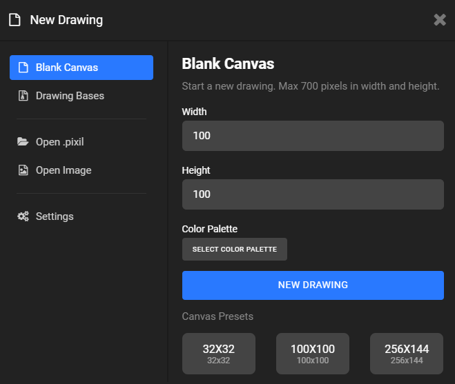Canvas Sizes